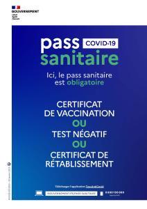 Pass sanitaire à partir du 10 août 2021